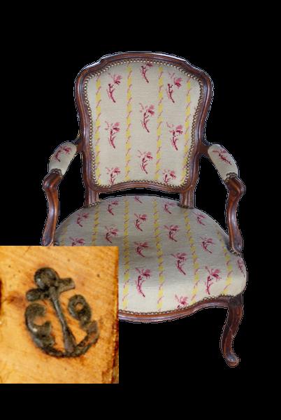 Fauteuil cabriolet, époque Louis XV