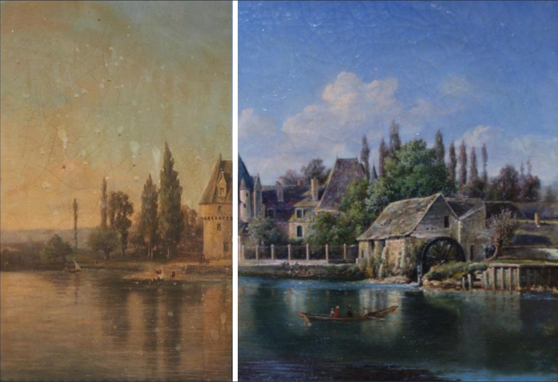 Restauration du tableau de Bazouges sur le Loir